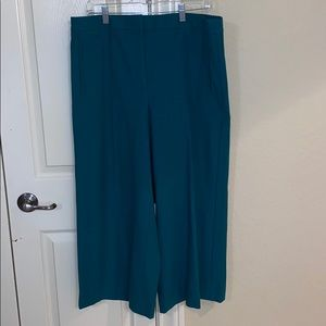 Size 14 Ann Taylor turquoise ankle length pant